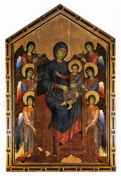"""The Madonna and Child in Majesty Surrounded by Angels,"" by Cimabue. c. 1270"